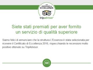 Abbiamo ricevuto il Certificato di Eccellenza 2016!